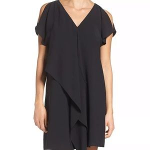 New Adrianna Papell Cold Shoulder Draped  Dress 4